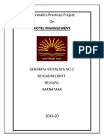 HOTEL MANAGEMENT IP PROJECT