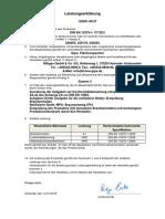 Trockenbauspachtel- Leistungserklrung  n. DIN EN  13279-1