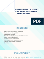 National Oral Health Policy Part Pre-Final