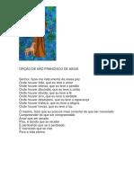 ORÇÃO DE SÃO FRANCISCO DE ASSIS