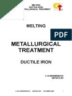 METALLURGICAL TREATMENT DUCTILE IRONin progress