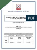 PERFORACION DE ROCA PARA INSTALACION DE ALCAYATAS EN INTERIOR MINA