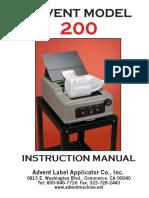Advent 200 Manual 2005