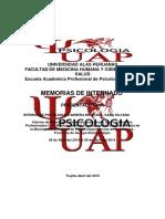 INFORME FINAL DE INTERNADO DE PSICOLOGIA