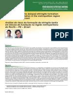 Análise de risco da formação de etringita tardia em Recife 09-03-00357
