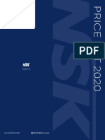 2020 NSK Price List Catalog