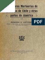 Ricardo Latcham Costumbres mortuorias de los indios de Chile y otras partes de América