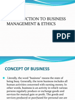 Introduction to Business, Management & Ethics