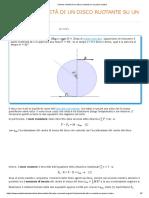 Calcolo velocità di un disco ruotante su un piano scabro backup