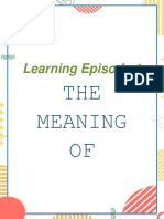 Learning Episode 1