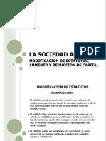 Diapositivas clase. Modificación de estatutos, aumento y reducción del capital social (1)