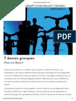 7 danses grecques _ Béjart Ballet Lausanne