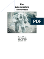 Abominable Snowman, The - Manual