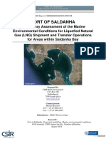 Prelim Assess of Marine Env Conditions - LNG operations in Saldanha Bay