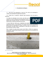 Plano de Reparo em poste de concreto com ficha tecnica