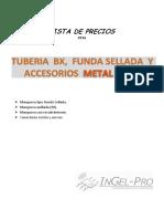 Lista de precios Metal Grey 2016