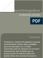 Indicadores Demográficos