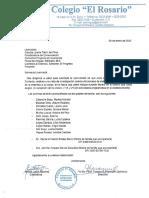 Carta de Solicitud, Colegio El Rosario