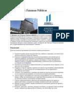 Funciones del Ministerio de Finanzas Públicas