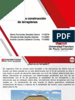 EQUIPOS PARA LA CONSTRUCCIÓN DE TERRAPLENES