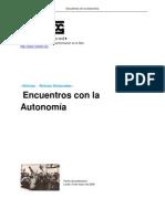 Encuentros Con La Autonomia