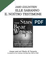 Bernard Goldstein Le Stelle Saranno Il Nostro Testimone