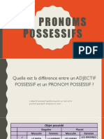 Les pronoms possessifs et les professions