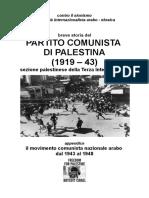 Breve Storia Del Partito Comunista Di Palestina (1919 – 43)