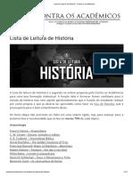 2 Lista de Leitura de História