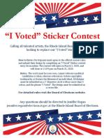 I Voted Sticker Flyer