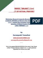 Is Quranic Salaat the Ritual Prayer by Aurangzaib Yousufzai