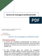 Service MESSAGERIE PROFESSIONNELLE - VOCATEL
