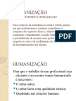 AULA - HUMANIZAÇÃO