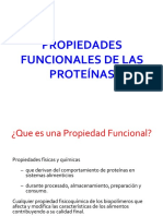 PROPIEDADES FUNCIONALES DE LAS PROTEÍNAS