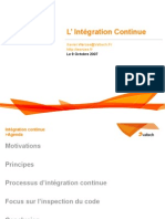 Principes de l'integration Continue