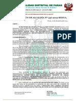 RESOLICION Nº 356 -2019-MDP- APROBAR,  CREACION DE CAMINO VECINAL  356 OK KKKKKKKK.docx