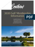 2020 Golf Newsletter