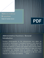 Administrative Discretion and abuse of power