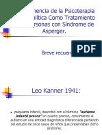 PSICOTERAPIA P.- ALTERNATIVA DE TRATAMIENTO EN EL S. ASPERGER