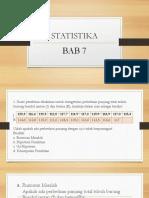 STATISTIKA bab 7