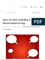 How To Start and Run a Mastermind Group