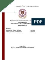 Herramientas para la administración del mantenimiento