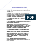 CONCEPTOS DE INDICADORES DE PRODUCCIÓN EN CONFECCIÓN