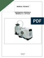 Manual Técnico Aspirador Cirúrgico A - 45 Plus.pdf