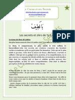 Secrets et zikrs de Ya Latif
