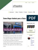 Como Alugar Imóveis para a Caixa - FII AGCX11 - Clube dos Poupadores