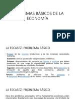 PROBLEMAS BÁSICOS DE LA ECONOMÍA