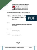 durabilidad al sulfato de sodio o magnesio ...agregados