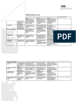 Matriz de evaluación de un Estudio de Caso