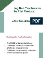 Nueva Zelandia Formacion de Profesores